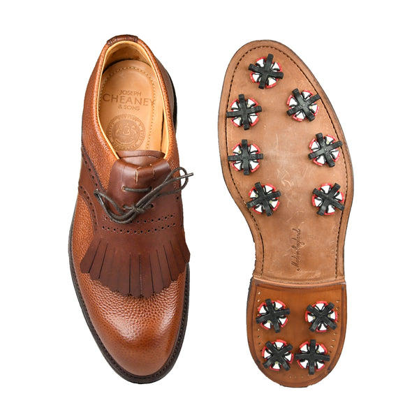 Golf Shoes Mahogany Grain and Brown Wax Calf
