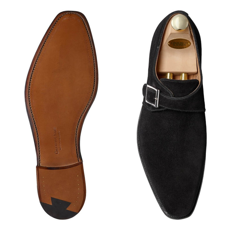 Monkton Black Calf suede