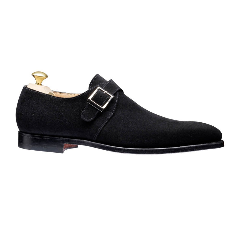 Monkton Black Calf suede, Crockett & Jones