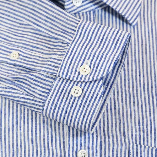 Linen shirt Porlamar blue striped