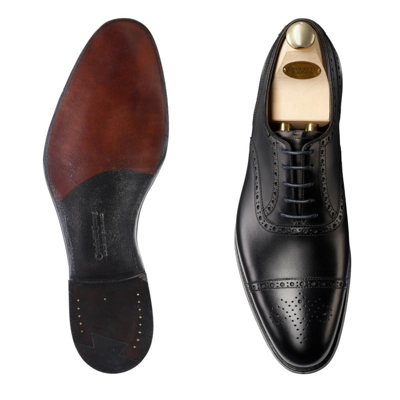 Barrington II black calf, Crockett & Jones
