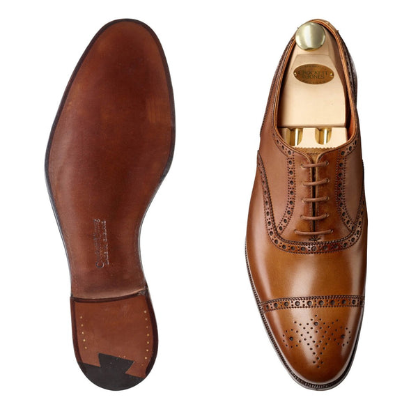 Barrington II tan antique calf