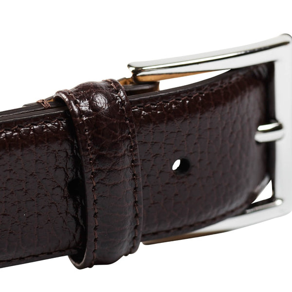 Belt Dark Brown Grain