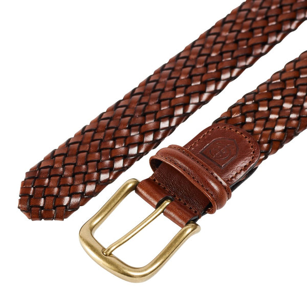 Belt Brown Woven Calf