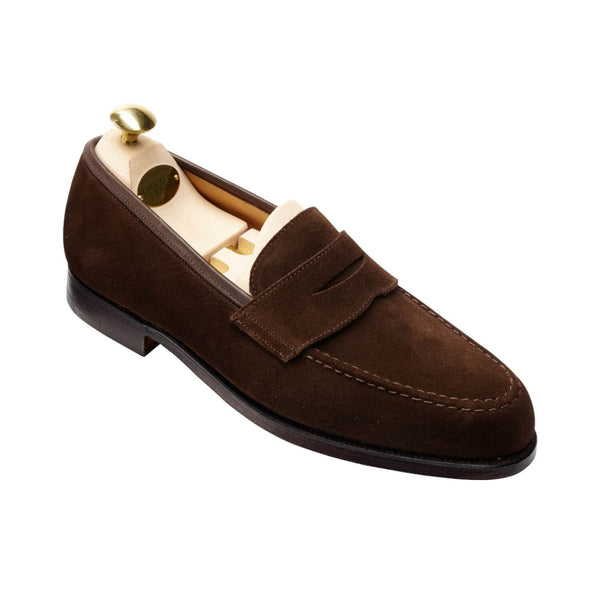 Boston Dark Brown suede, Crockett & Jones