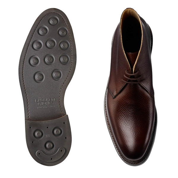 Brecon Dark Brown Country Calf Grain