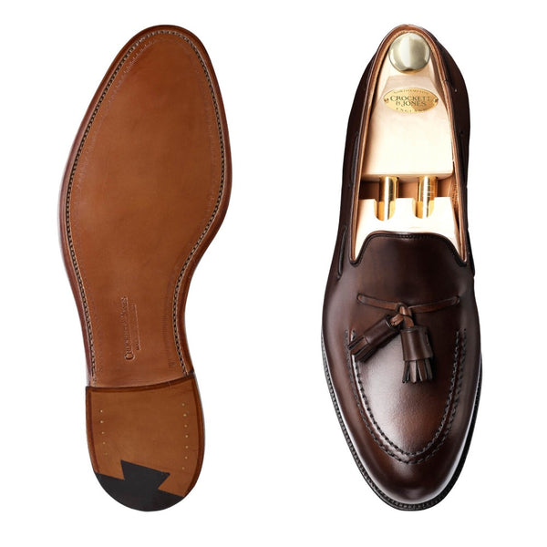 Cavendish Dark Brown Burnished Calf, Crockett & Jones