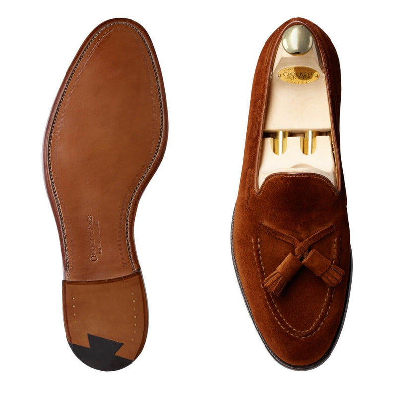 Cavendish Polo Brown Calf Suede, Crockett & Jones