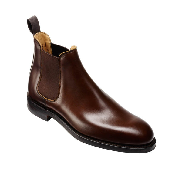 Chelsea V Dark Brown Wax Calf, Crockett & Jones