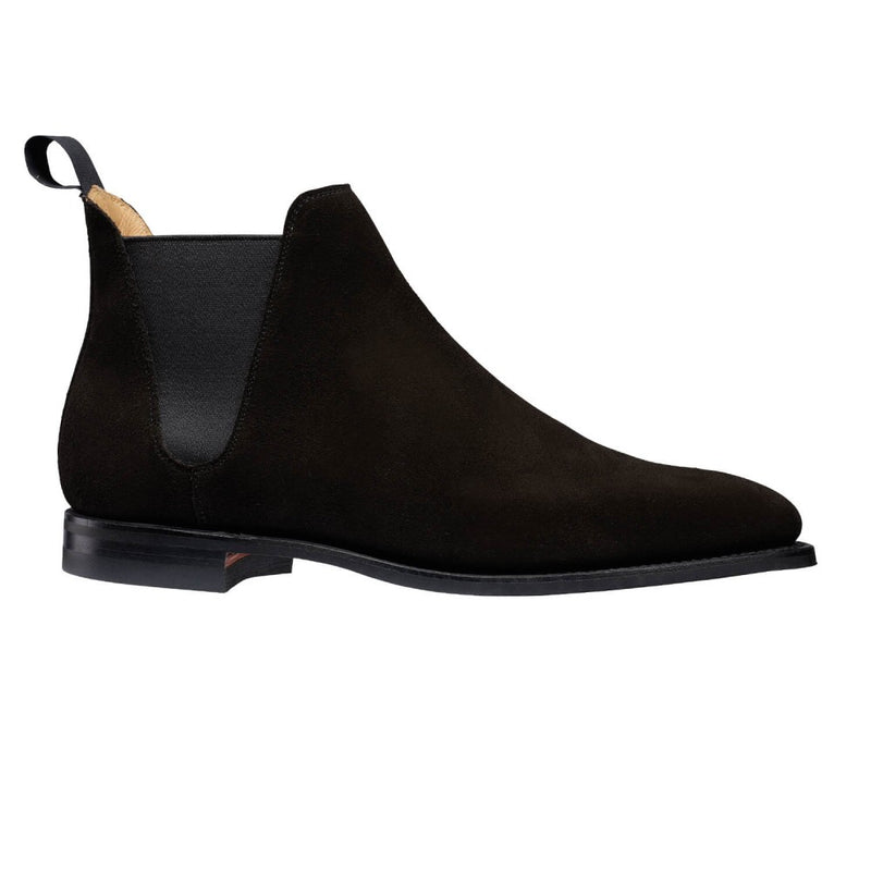Chelsea VIII Black suede, Crockett & Jones