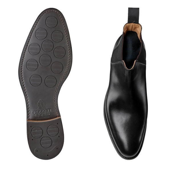 Chelsea VIII Black Calf, Crockett & Jones
