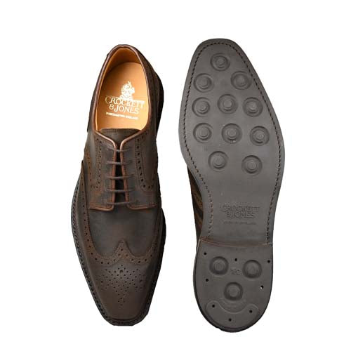 Exmoor Dark Brown Rough-out Suede, crockett & jones