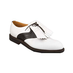 Golfsko Oxford White & Brown