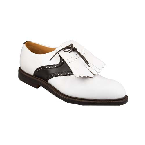 Golf shoes Oxford White & Brown