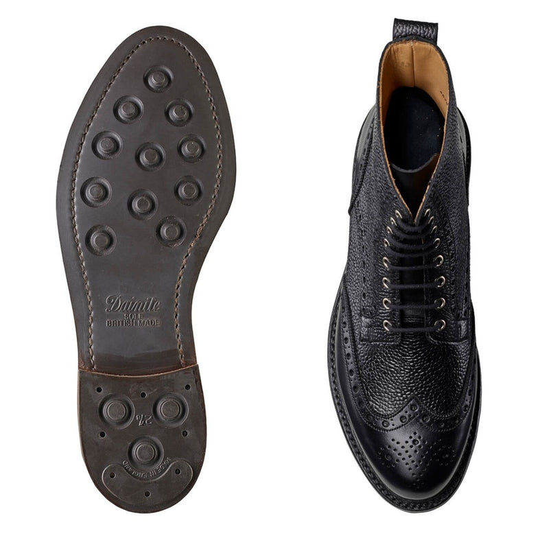 Grace II Black Calf & Scotch Grain, Crockett & Jones