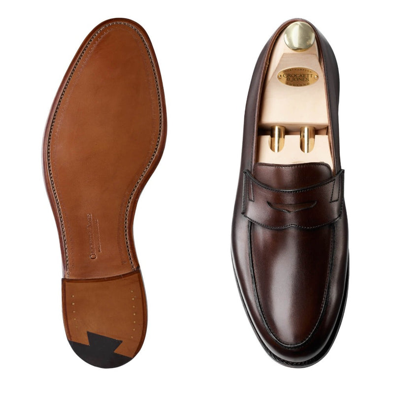 Grantham II Dark Brown  Burnished Calf
