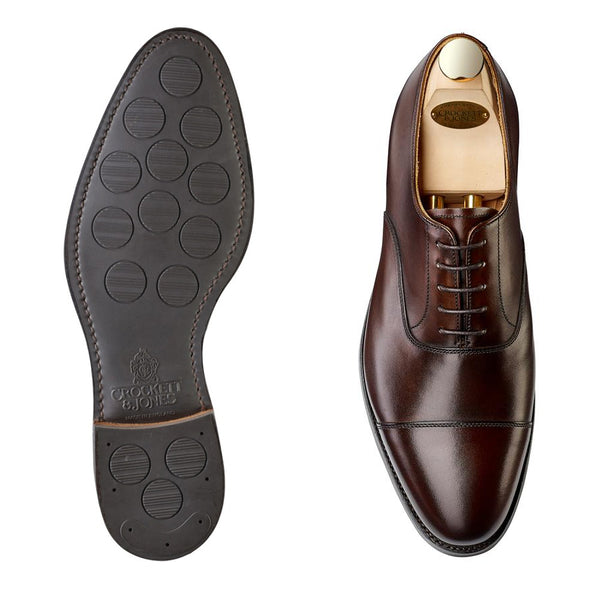 Connaught II Dark Brown Burnished Calf, city sula, Crockett & Jones