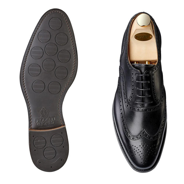 Westgate II black calf, city sula, Crockett & Jones