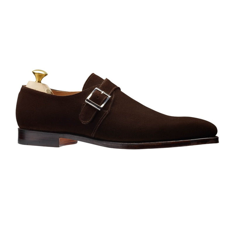 Monkton Dark Brown Calf suede, Crockett & Jones