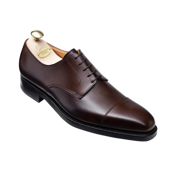 Norwich Dark Brown Burnished Calf, Crockett & Jones