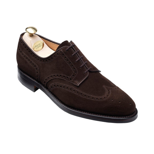 Swansea Dark Brown suede, Crockett & Jones