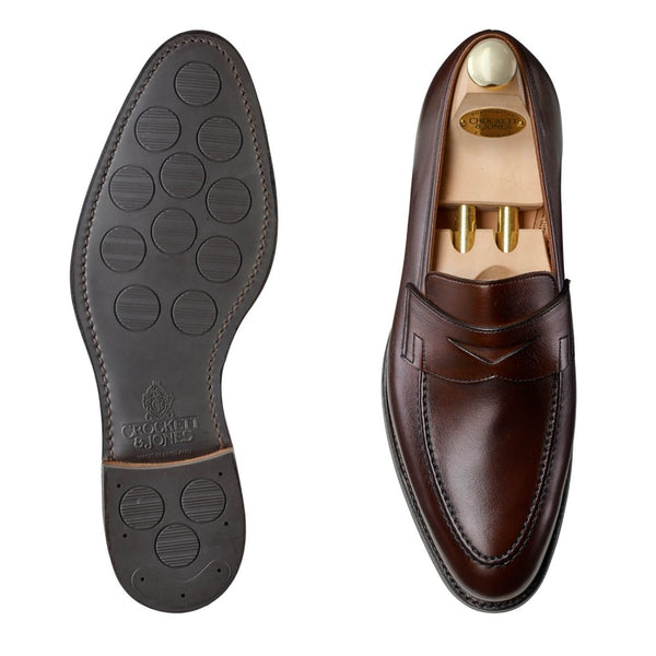 Sydney Dark Brown Burnished Calf