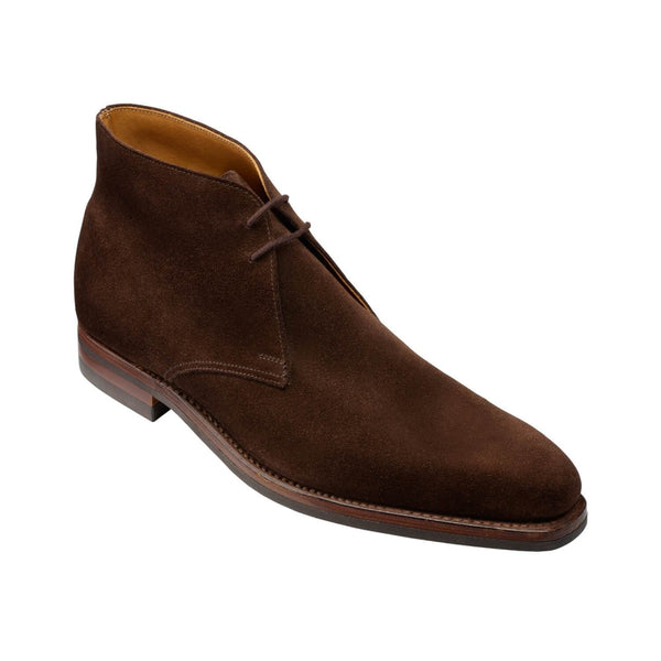 Tetbury dark brown suede