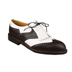 Turnberry golf shoes Dark Brown & White, Joseph Cheaney & Sons