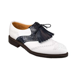 turnberry golf shoes White & Navy Calf, Joseph Cheaney & Sons