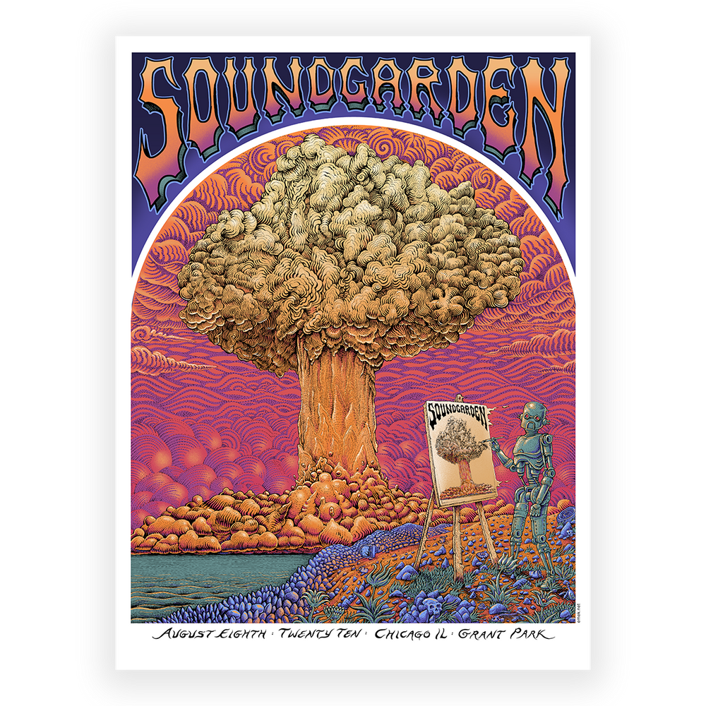 Special Edition Foil Vintage Soundgarden at Grant Park Poster