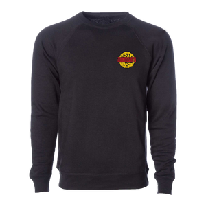 Sawblade Black Embroidered Crewneck Sweater