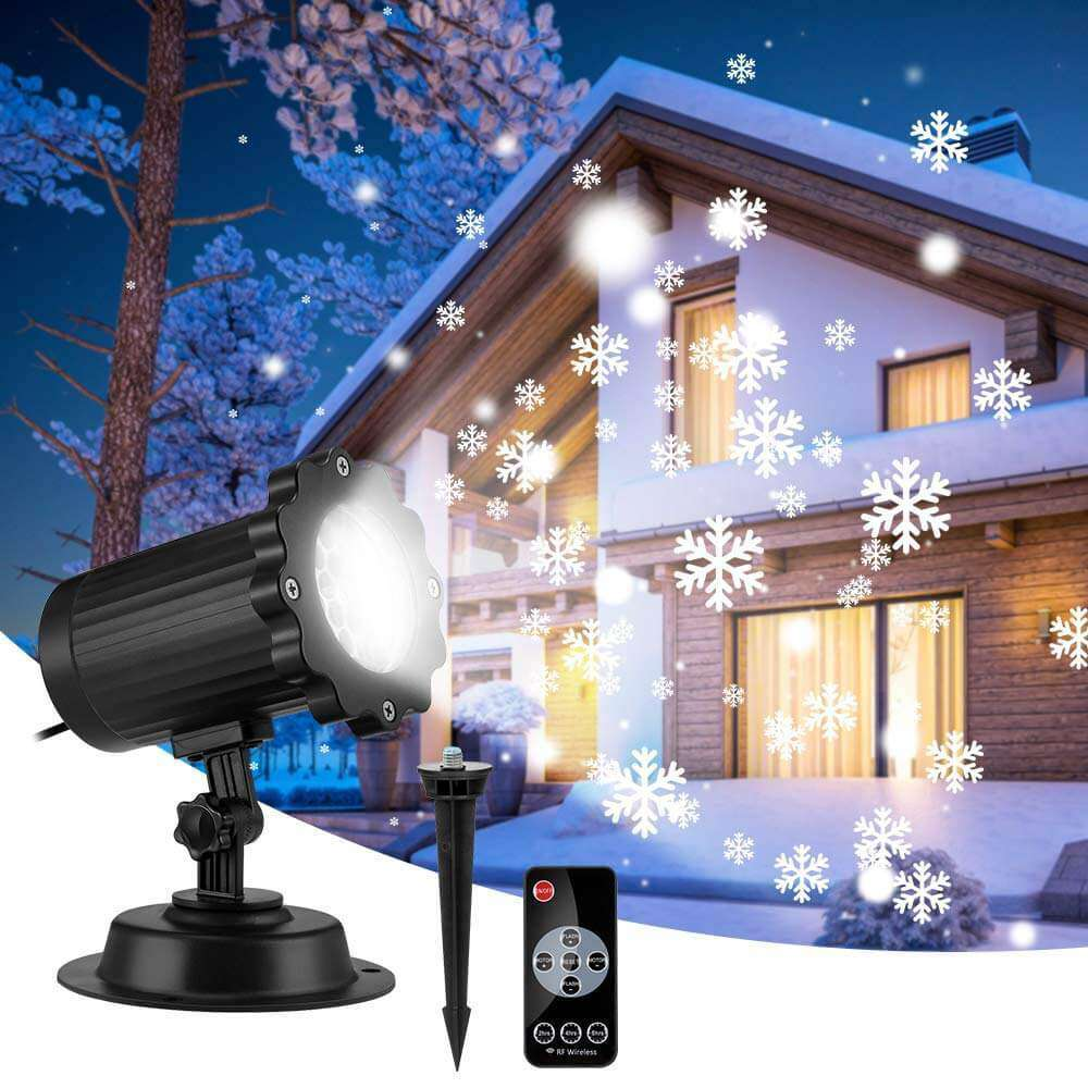 Snowfall LED Lights Projector Snowstorm Effect for Holiday Outdoor Laser Decoration - Elecstars Capturing Stars in the Dream