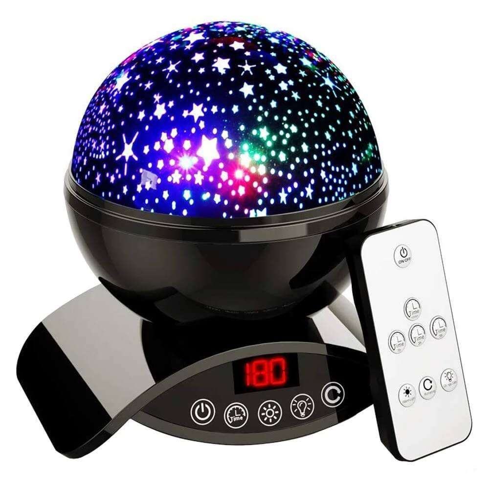 Star Projector Night Light Black Ceiling Starry Sky with Timer Remote And Chargeable - Elecstars.com