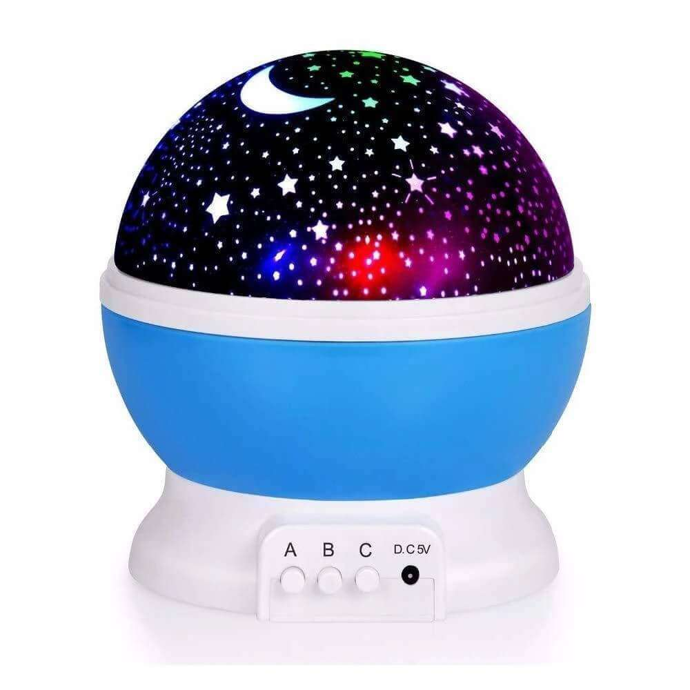 Moon And Star Projector Blue 360 Degree Rotation Unique Gifts for Baby - Star Projector Engram - Elecstars.com