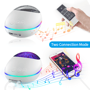 Ocean Wave Projector Bluetooth Music Speaker Voice Control for Bedroom Toddler Nighttime Sleep Aids - Elecstars Capturing Stars in the Dream