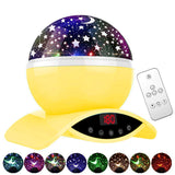Star Projector Night Light Yellow Ceiling Starry Sky with Timer Remote And Chargeable