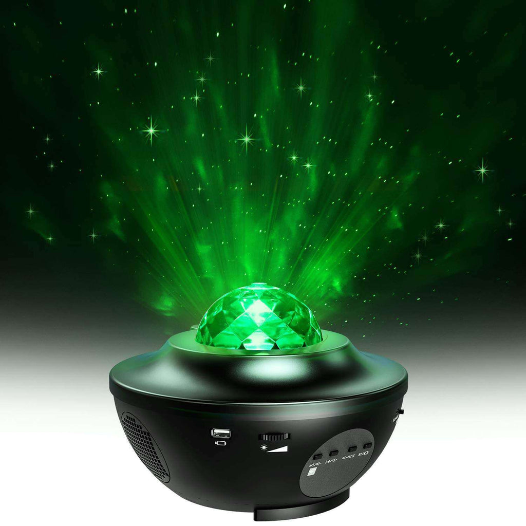 Rotating Ocean Wave Music Projector LED Night Light Remote Lamp 7 Colors 12 LED