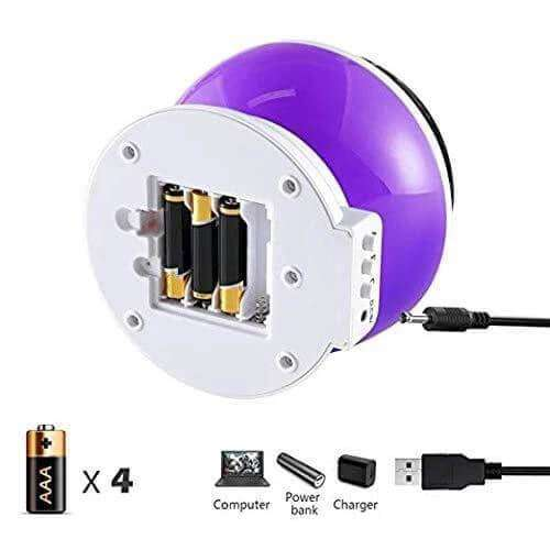 Childrens Night Light Projector Moon And Star Starry Sky Purple 360 Degree Rotation - Elecstars.com