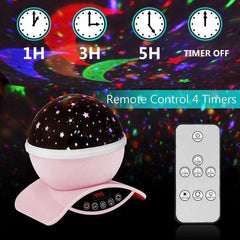 Star Projector Night Light Pink Ceiling Starry Sky with Timer Remote And Chargeable - Elecstars Capturing Stars in the Dream