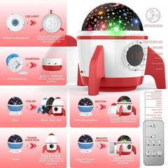 2019 Childrens Night Light Star Projector Red for Bedroom with Timer Remote and Chargeable - Elecstars Capturing Stars in the Dream