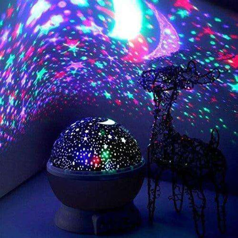Childrens Night Light Projector Moon And Star Starry Sky Purple 360 Degree Rotation - Elecstars Capturing Stars in the Dream