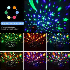 Star Projector Night Light White Ceiling Starry Sky with Timer Remote And Chargeable - Elecstars Capturing Stars in the Dream