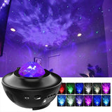 Ocean Wave Night Light Projector with Music for Bedroom Nighttime Sleep Aid - Elecstars Capturing Stars in the Dream