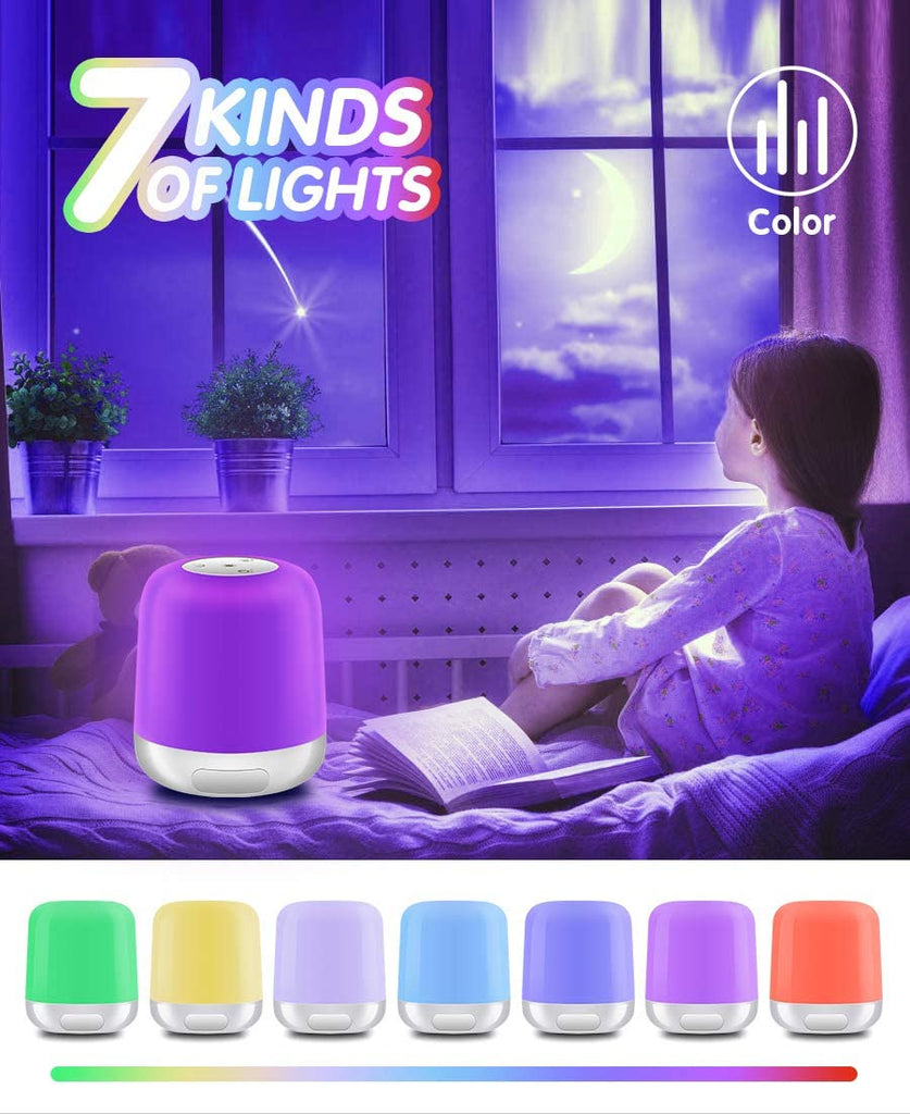 Touch Lamps for Bedrooms Portable Travel Touch Control Lamp for Outdoor USB Rechargeable Internal Battery Bedside Breath Lamp Dimmable Light 8 Colors RGB Colorful Camping Travel Hanging Lights - Elecstars Capturing Stars in the Dream