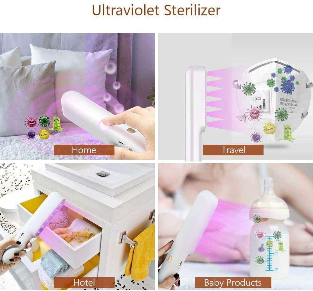 UVILIZER Extra UV Light Sanitizer | Powerful Disinfects 99.99% of All Germs Portable, LED 7W Sanitizer Handheld - Elecstars Capturing Stars in the Dream