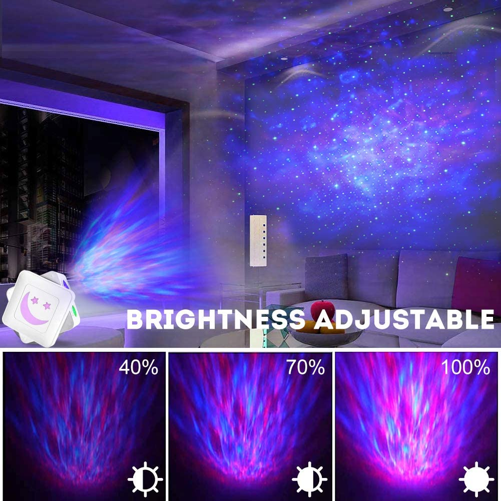 Star Projector,Delicacy 3 in 1 Galaxy Projector Starry Night Light with 14 Lighting Modes,Voice Control Rotating LED Ocean Wave Projector for Home Theatre/Kids Adults Bedroom Decoration - Elecstars Capturing Stars in the Dream