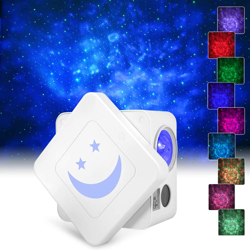 Star Projector,Delicacy 3 in 1 Galaxy Projector Starry Night Light with 14 Lighting Modes,Voice Control Rotating LED Ocean Wave Projector for Home Theatre/Kids Adults Bedroom Decoration
