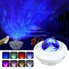 Ocean Wave Projector Night Light Bluetooth Speaker Remote Voice Control for Bedroom Nighttime Sleep Aid - Elecstars Capturing Stars in the Dream