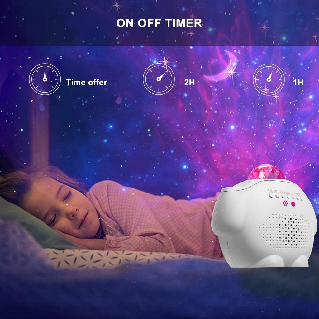 Star Sky Night Light Projector, Ocean Wave Projector Light 3-1 LED Star Projector with Moon & Star,Star Light Projector with Voice Control,Galaxy Projector for Baby Kids Gift Home Decor. - Elecstars Capturing Stars in the Dream