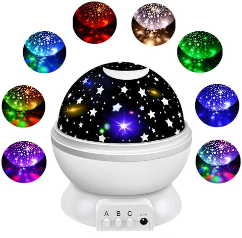 Star Projector for Ceiling for Kids, Toddler Night Light Projector Moon and Star Night Light Projector of Baby Starry Cosmos 360 Degree Rotation 8 Light Color Changing Children Nursery Decor